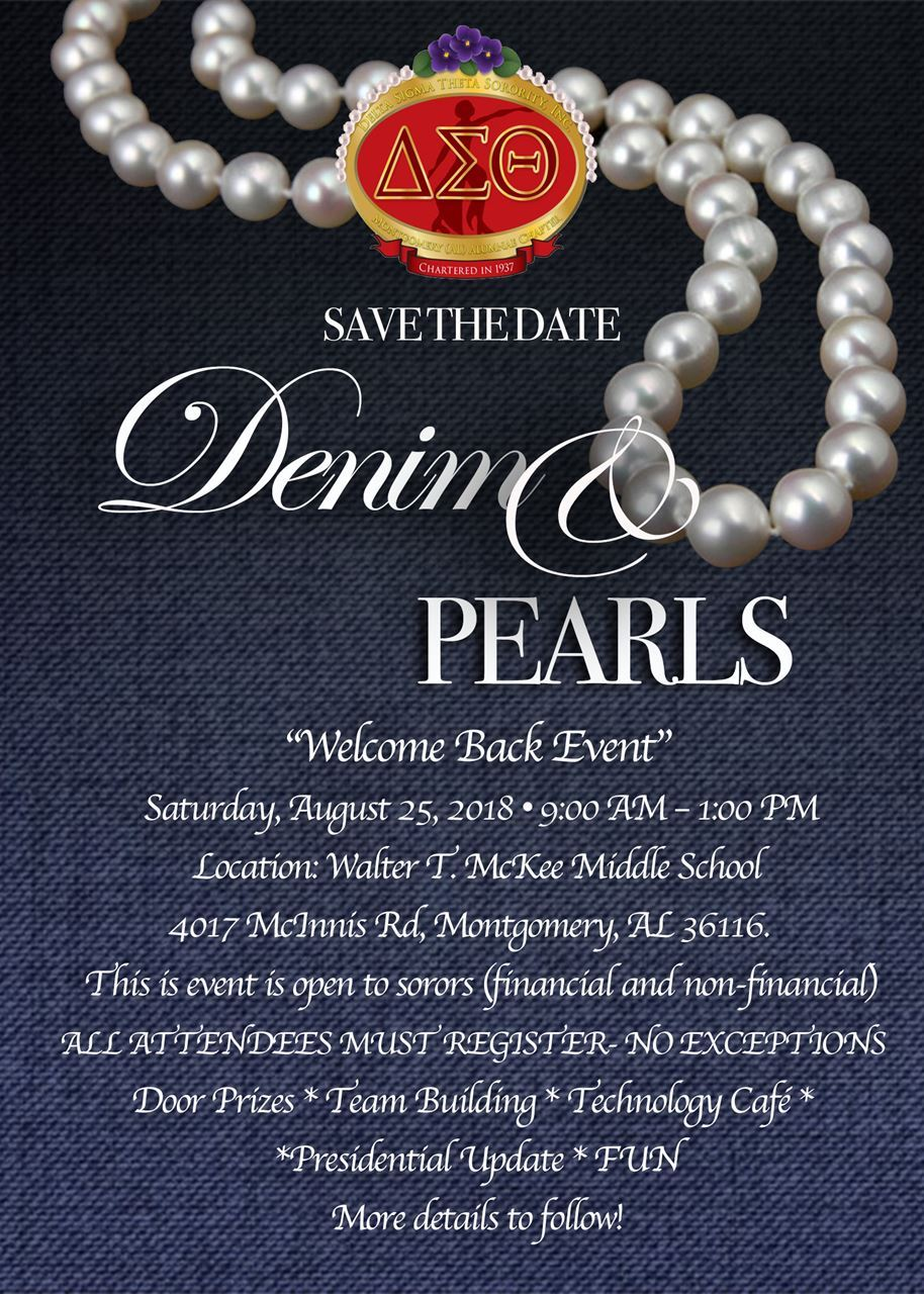 Montgomery Al Alumnae Chapter Denim And Pearls